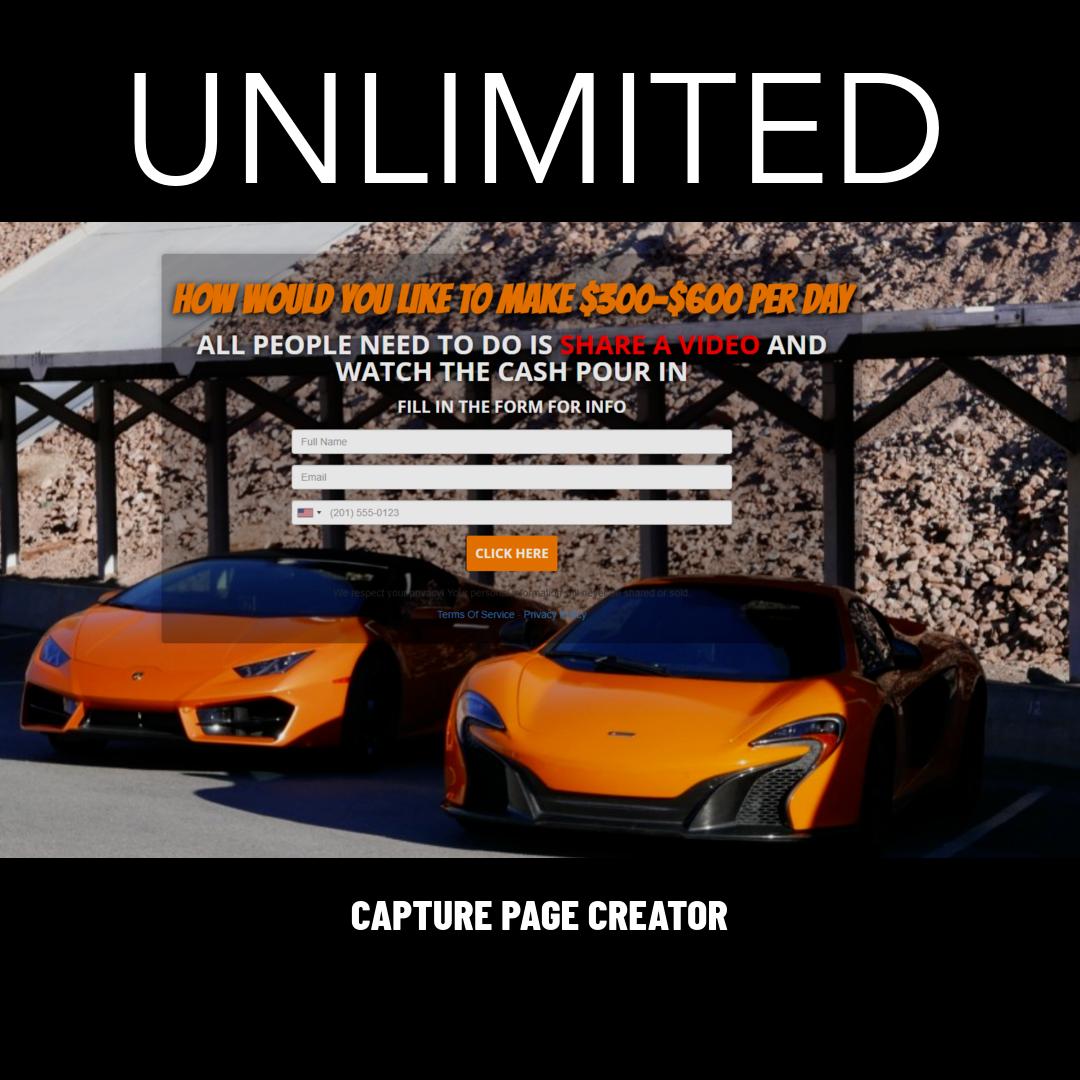 Capture Page Creator
